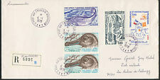 TAAF / FSAT LETTRE COVER 1978 N°71/72 POISSONS + 70 73 RECOMMANDE TAXE FRANCE