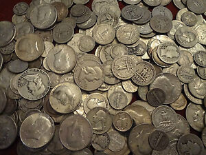 90% SILVER $.60 FACE VALUE MIX LOT Not Junk This is Survival Silver  **