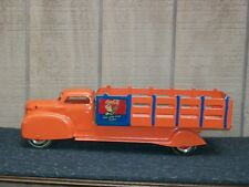 Vintage Louis Marx & Co. Coca Cola Delivery Truck Pressed Steel Toy Stake Truck