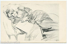 ARTIST SIGNED. PAUL CéSAR HELLEU. JOLIE FEMME SUR UN SOFA. WOMAN ON A SOFA