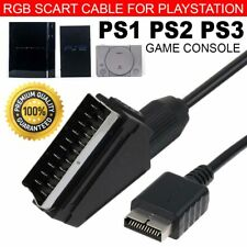 SCART Cable TV AV RGB Audio Lead Consoles For Playstation PS1 PS2 PS3 Slim HDTV