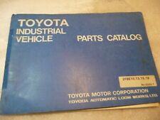 Toyota 2fbe10 2fbe13 2fbe18 2fbe15 Forklift Parts Book Catalog