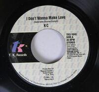 Soul 45 Kc I Don'T Wanna Make Love On T.K. Records