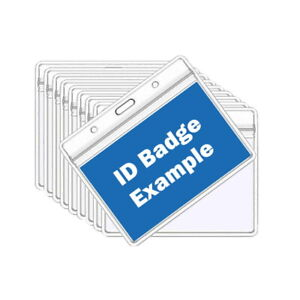 Clear Plastic ID Badge Card Holders   Badge/Pass Holder   Name Wallet Pouches