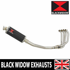 KAWASAKI ZRX 1200 Full Exhaust System 300mm Oval Carbon Fibre Silencer 300CS