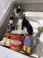 Danbury Mint Boston Terrier Christmas Ornament 2008 FREE SHIPPING