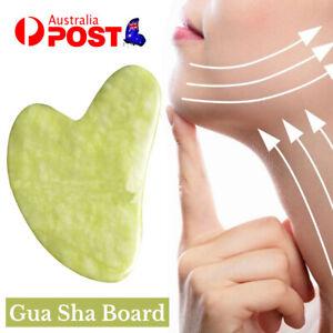 Natural Facial Gua sha Slimming Massager GuaSha Set for Face Jade Tool AU