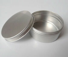 5PCS Aluminum Jar Tin Pots Metal Cosmetic Packaging cosmetics Container 50G