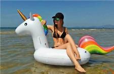 Inflatable Pool Float Tube Mat Raft UNICORN Toy Water River Giant Adult Kid Swim
