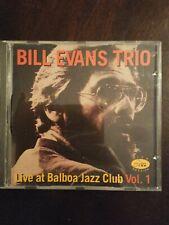 Bill Evans Trio Live At Balboa Jazz Club Vol. 1 CD