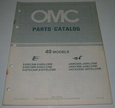 Ersatzteilkatalog Parts Catalog OMC 40 Models Boot Engine Bootsmotor März 1984