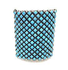 Native American Sterling Silver Navajo Handmade Natural Turquoise Bracelet