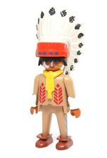 Playmobil Figure Western Indian Chief Feather Headdress Moccasins Necklace 3395
