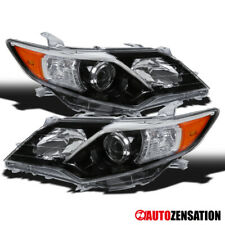 For 2012-2014 Toyota Camry SE Slick Black Projector Headlights Lamps Pair
