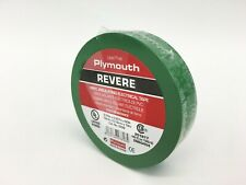 """Plymouth Rubber 3898 Revere Green 7 Mil Vinyl Electrical Tape 3/4"""" x 60' - Spain"""
