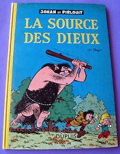 JOHAN ET PIRLOUIT LA SOURCE DES DIEUX  PEYO  EO CARTONNEE DUPUIS 1957 BE