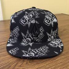 VOLCOM Embrace Change Fitted Cap Hat Size 7.5 Black/Grey Flatbill Skating