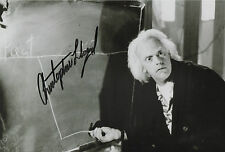CHRISTOPHER LLOYD Signed In Person 12x8 Photo BACK TO THE FUTURE COA