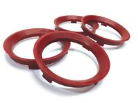 66.6 - 57.1 Spigot Rings, Set of 4, TUV, VW Golf, Polo, Caddy, Scirocco, Passat