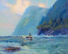 Laurence Sydney Fish Boat Marine Canvas 16 x 20 #2870