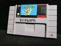 Super Mario World SNES Super Nintendo Authentic Original 1992 Tested