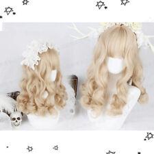 Japanese Lolita Daily Harajuku Cosplay Roman Curly Hair Sweet Princess Dolly Wig