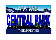 Número de matrícula, Central Park Novedad Divertido Placa de licencia americano de Nueva York NYC