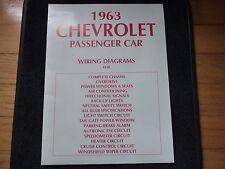 1963 Chevrolet Passenger Car Wiring Diagram Booklet / Excellent Condition