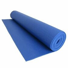 Yoga Exercise Fitness Workout Non Slip Mat With Carry Case - Blue