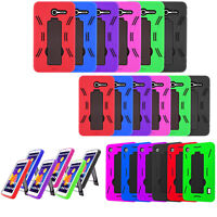 Heavy Duty Armor Case Hybrid Cover For Onetouch Pixi (3) 7 Pop 7 LTE P310a 9015W