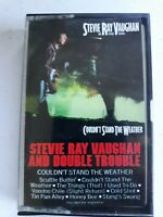 Stevie Ray Vaughan and Double Trouble Couldnt stand the weather cassette tape