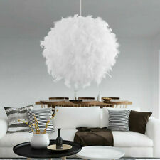 Romantic Living Room Feather Ceiling Pendant Droplight Parlor Hanging Lamp Decor
