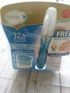 Amopé Pedi Perfect Electronic Nail Care System Pedicure Manicure-Blue New Sealed