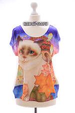 TP-20 Lolita T-Shirt Katze Cat Harajuku Japan Trend Fashion Süß Kawaii bunt