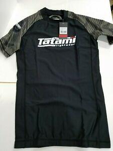 New Tatami Renegade Green Camo MMA BJJ Jiu Jitsu Short Sleeve SS Rashguard