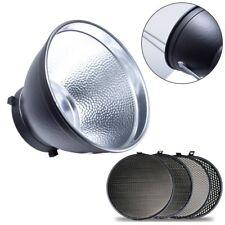 "7"" Studio Standard Reflector + 17cm Honeycomb Grid Kit for Bowens Studio Flash"