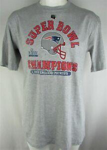 New England Patriots NFL Majestic Men's Big & Tall Gray Super Bowl LIII Tee
