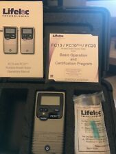 1 Used Lifeloc Fc10 Plus Breathalyzer With Case & Cd Manual, Training Guide Etc