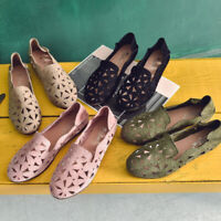 Women's Breathable Cut-Out Flats Soft Summer Round Toe Casual Flat Slip Shoes
