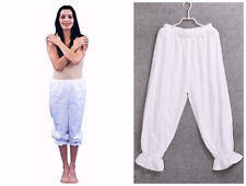 Ladies Gypsy Bloomers Victorian White Pantaloons Pettipants Renaissance Costume