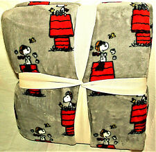 "Peanuts Gang Snoopy Red Barron Plush 60x90"" Throw Blanket Berkshire NEW Tag"