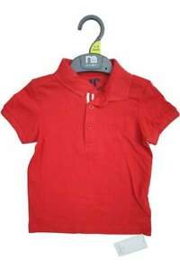 New Mothercare Boys Red Polo Shirt - 3 Mnths to 6 Yrs - Free 1st Class Postage