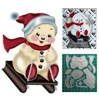 Christmas snowman Metal Cutting Dies Stencils DIY Scrapbooking Embossing Album