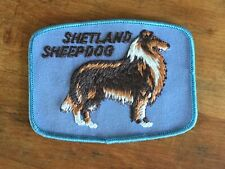 Vintage Shetland Sheepdog Dog Breed ~ Blue Embroidered Patch