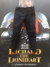 Coo Modelos Richard el Lionheart Negro Pantalones Sueltos escala 1/6th