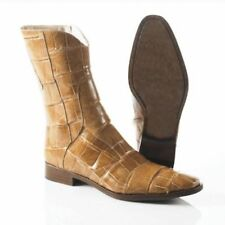 STIVALETTI BOOTS IN COCCODRILLO BESPOKE TAILORED HAND CRAFTED MADE IN ITALY