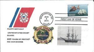 US Coast Guard 225th Anniv. FDC Scott #5008 Dr. L's Cachet PM Washington DC