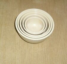 Nesting MELAMINE Measuring Cups (5) with 10 measurements Beige Mint Condition