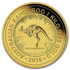 2016 Australia 1 kilo Gold Kangaroo BU - SKU #92701