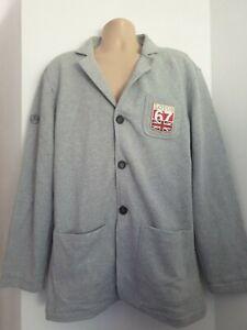 Lotus Mens XXL Brand New 100% Cotton Grey Jersey Blazer Jacket